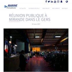 Réunion publique à Mirande dans le Gers - Marine 2017