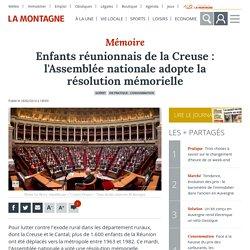 Enfants réunionnais de la Creuse : l'Assemblée nationale adopte la résolution mémorielle - Guéret (23000)