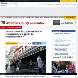 Des victimes du 13novembre se réunissent «en quête de reconstruction»