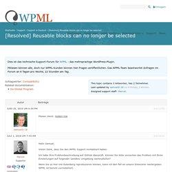 Reusable blocks can no longer be selected