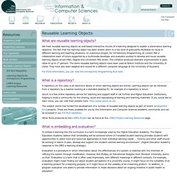 Reusable Learning Objects | Subject Centre for Information and C