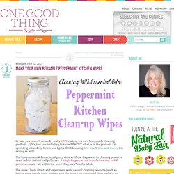 Make Your Own Reusable Peppermint Kitchen Wipes