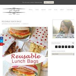 Reusable Snack Bags - girl. Inspired.