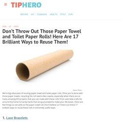17 Ways to Reuse Paper Towel & Toilet Paper Rolls