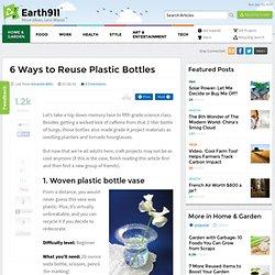 6 Ways to Reuse Plastic Bottles