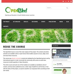 Reuse the Course – OpenMed