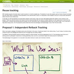 Reuse tracking