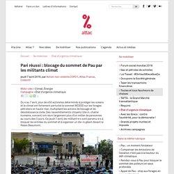 Pari réussi : blocage du sommet de Pau par les militants climat