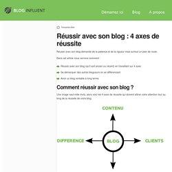 Réussir avec son blog : les 4 axes des blogueurs pro