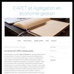 Réussir le CAPET économie gestion
