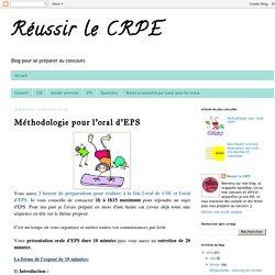 Réussir le CRPE : Méthodologie pour l'oral d'EPS