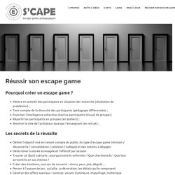 Réussir son escape game – S'cape