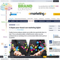 4 étapes pour réussir son marketing digital