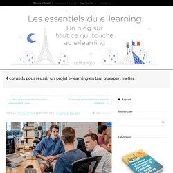 Réussir un projet e-learning en tant qu'expert métier