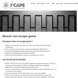 Réussir son escape game – S'cape