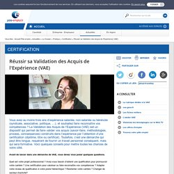 Réussir sa Validation des Acquis de l'Expérience (VAE)