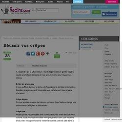 Réussir vos crêpes ! sur Radins.com