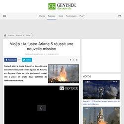 Vidéo : la fusée Ariane 5 réussit une nouvelle mission