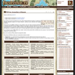 P39 les réussites critiques - Wikis Pathfinder-fr