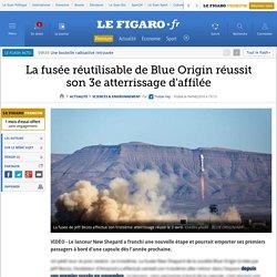 La fusée réutilisable de Blue Origin réussit son 3e atterrissage d'affilée