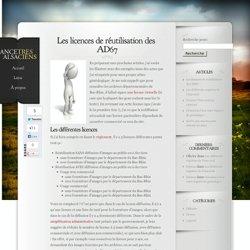 Les licences de réutilisation des AD67 - Ancêtres Alsaciens