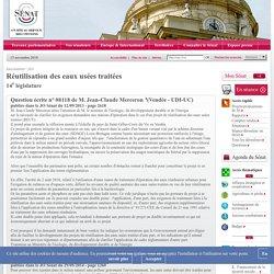 JO SENAT 12/09/13 Nouvelle question N°08118 Réutilisation des eaux usées traitées