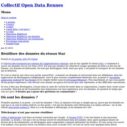 Réutiliser des données du réseau Star