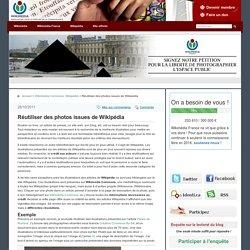Réutiliser des photos issues de Wikipédia
