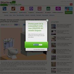 Simple sistema permite reutilizar el agua del lavamanos para llenar el inodoro
