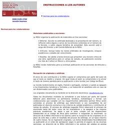 Rev. educ. sup - Instrucciones a los autores