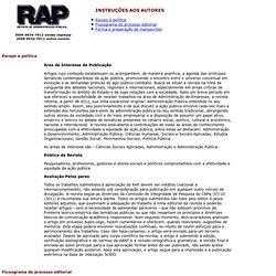 Rev. Adm. Publica - Instruções aos autores