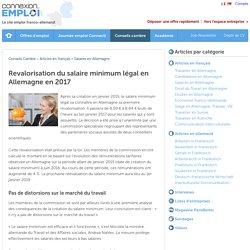Revalorisation du salaire minimum légal en Allemagne en 2017