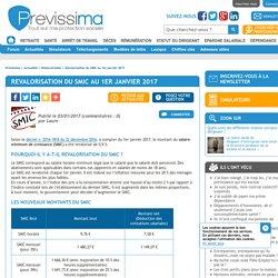 Revalorisation du SMIC au 1er janvier 2017 - Previssima
