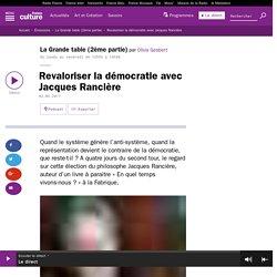 Revaloriser la démocratie avec Jacques Rancière