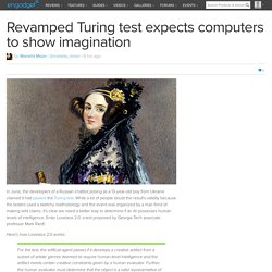 Revamped Turing test expects computers to show imagination