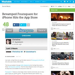 Revamped Foursquare for iPhone Hits the App Store