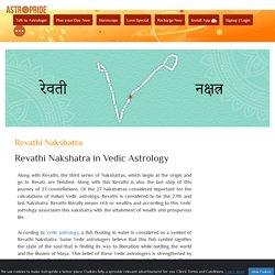 Revathi Nakshatra