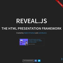 reveal.js – The HTML Presentation Framework