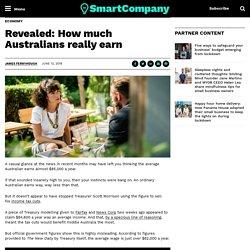 Revealed: How much Australians really earn
