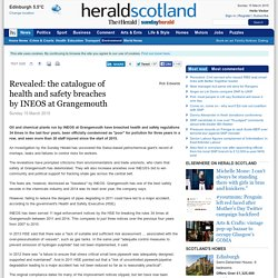 Revealed: the catalogue of health and safety breaches by INEOS at Grangemouth
