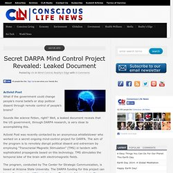 Secret DARPA Mind Control Project Revealed: Leaked Document