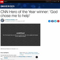 CNN Hero of the Year revealed: Jeison Aristizábal