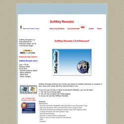 SoftKey Revealer - The Official Site of Game Key Revealer & SoftKey Revealer