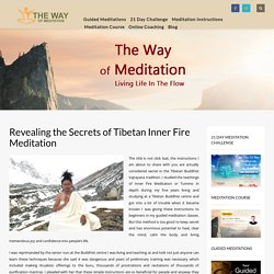 Revealing the Secrets of Tibetan Inner Fire Meditation