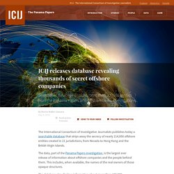 ICIJ releases database revealing thousands of secret offshore companies · ICIJ