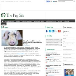 PIGSITE 04/11/14 Study Reveals Differences in Animal Welfare Training across Europe.