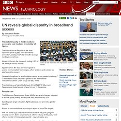 UN reveals global disparity in broadband access