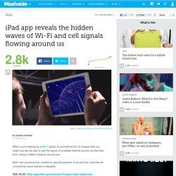 iPad app reveals the hidden waves of Wi-Fi and cell signals flowing around us
