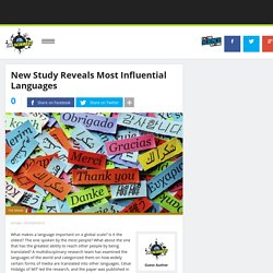 New Study Reveals Most Influential Languages