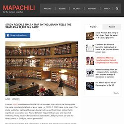 Study Reveals that a Trip to the Library Feels the same as a $2,282 pay raise.